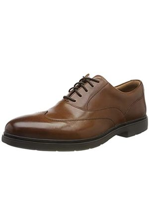 Clarks Un Tailor Wing, Zapatos de Cordones Derby para Hombre, (Tan Leather Tan Leather)