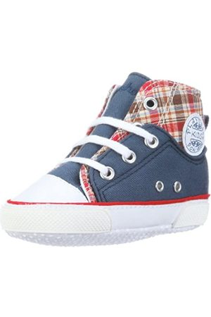 Playshoes Primeros Zapatos de Lona, Zapatillas Casual Unisex bebé, (Jeansblau 3)