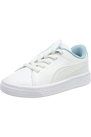 Puma Basket Crush AC Inf, Zapatillas para Niñas, White-Milky Blue