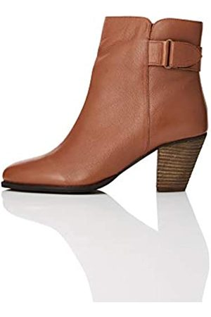 FIND Casual Ankle Leather Botas Chelsea, Brandy