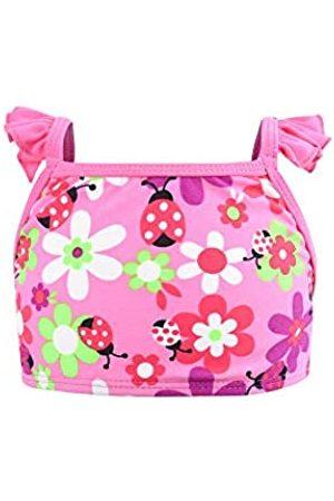Eono Essentials - Bikini con volantes en los tirantes para niñas de 5 años