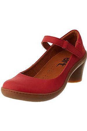 Art ALFAMA, Zapatos de tacón con Punta Cerrada para Mujer, (Red Red)
