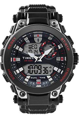 Timex RelojAnalógico-DigitalparaHombredeCuarzoconCorreaenResinaTW5M30800