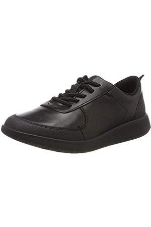 Clarks Scape Street K, Zapatos de Cordones Brogue para Niños, (Black Leather-)