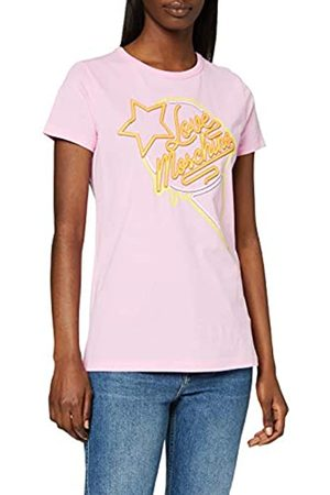 Love Moschino T-Shirt_Neon Sign Ice Cream & Logo Print Camiseta