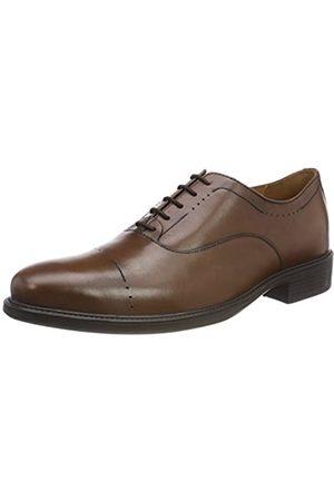 Geox Uomo Carnaby A, Zapatos de Cordones Oxford para Hombre, (Cognac)