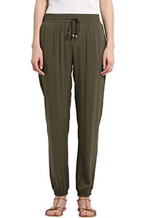 Berydale Pantalones de tela suaves de mujer, Oliva