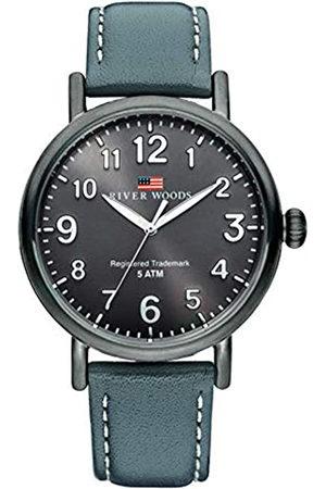 River Woods Reloj Analógico para Hombre de Cuarzo con Correa en Cuero RW420005