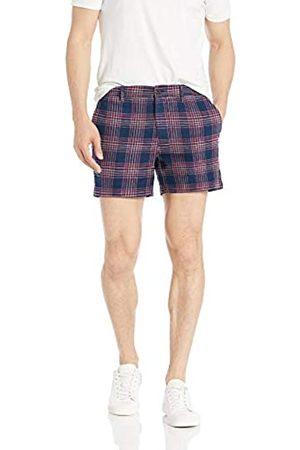 Goodthreads – Pantalón corto de lino elástico con tiro de 13 cm para hombre.