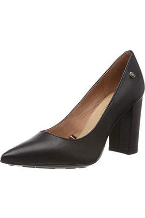 Tommy Hilfiger Dressy Leather High Heeled Pump, Zapatos de Tacón para Mujer, (Black 990)