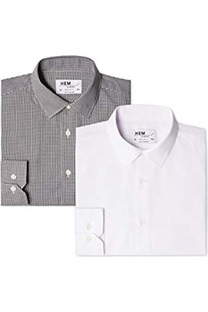FIND 2 Pack Regular Fit Gingham, Camisa Hombre