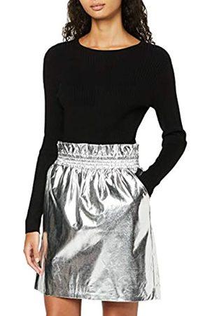 FIND Falda Metalizada con Cintura de Fuelle para Mujer