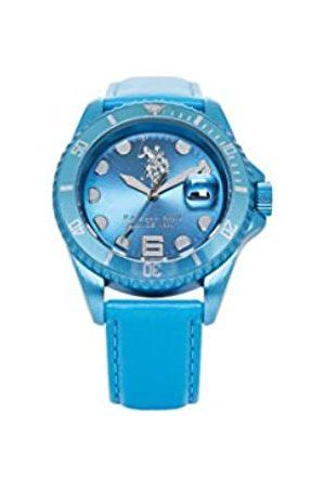 U.S. Polo Assn. US Polo Association Reloj Analógico para Hombre de Cuarzo con Correa en Cuero USP4067AQ