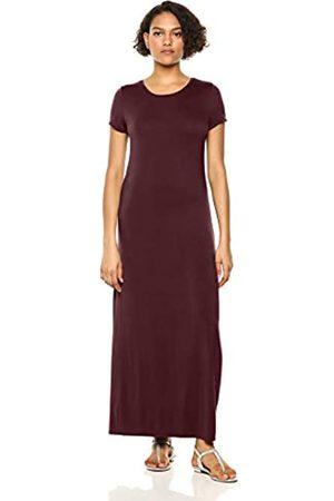 Amazon Vestido largo de manga corta para mujer