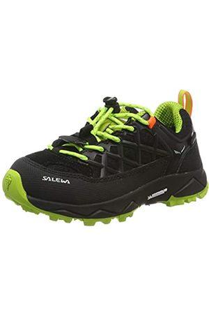 Salewa Jr Wildfire WP, Zapatos de Low Rise Senderismo Unisex Niños, (Black out/Cactus 986)