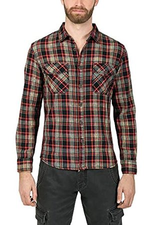 Timezone Washed Flannell Shirt Camisa