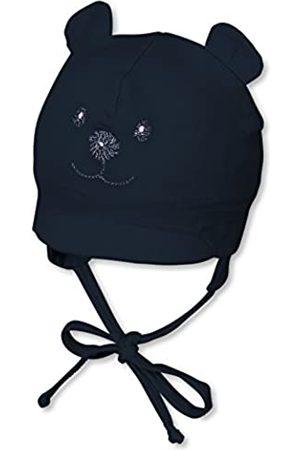 Sterntaler Gorro con visera para niños con cinta para el cuello con bonito motivo de oso, Edad: 5-6 meses, Tamaño: 43