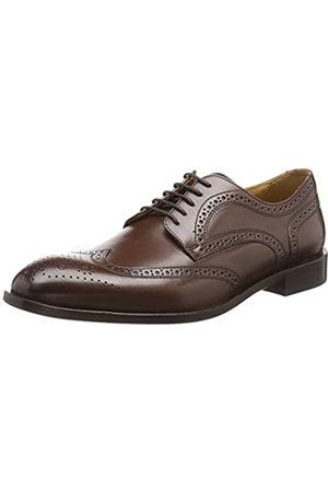Geox U Saymore F, Zapatos de Cordones Brogue para Hombre, (Ebony C6027)