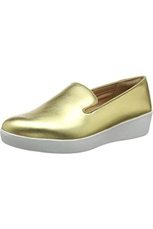 FitFlop Audrey Smoking Slipper-Leather, Mocasines para Mujer