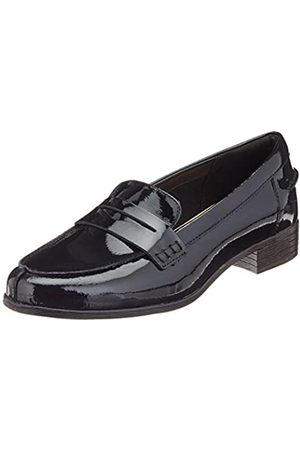 Clarks Hamble Loafer, Mocasines para Mujer, (Black Pat Black Pat)