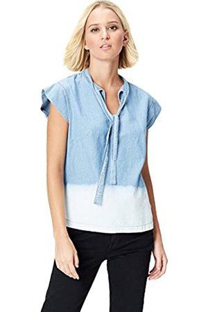FIND Dip Dye, Neck Blusa Tejana para Mujer