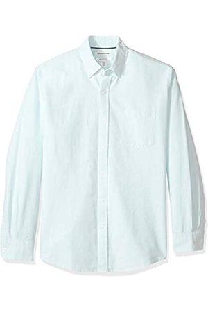 Amazon Camisa Oxford lisa de manga larga de corte recto para hombre