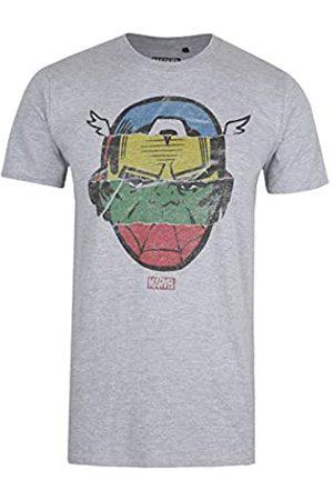 Marvel Avengers Faces-Mens T Shirt Lrg Camiseta