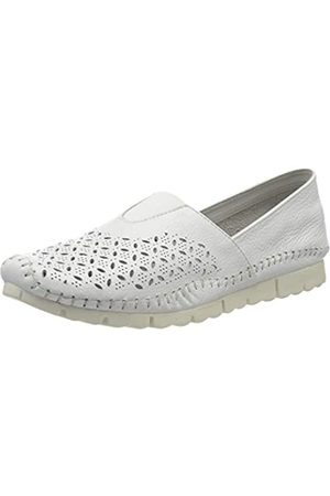 Jana 100% comfort 8-8-24619-24, Mocasines para Mujer, (White 100)
