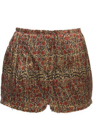 Khaite   Mujer Shorts De Sarga De Viscosa 2