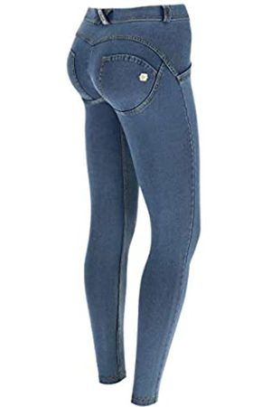 Freddy Pantalón WR.UP® superskinny de Talle y Largo estándar en Punto de Claro - Jeans Borrar-Costuras Amarillo - Medium