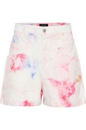 Isabel Marant Shorts de tiro alto con print tie-dye