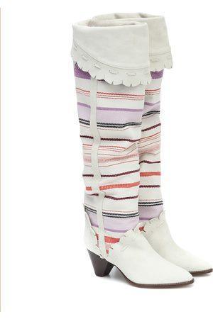 Isabel Marant Botas altas Luiz de gamuza y algodón