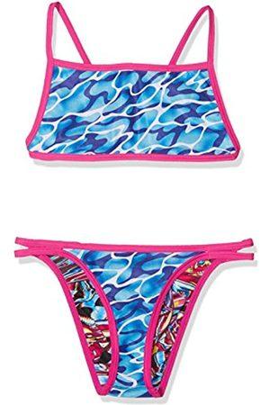 Speedo 8-11339C275 Bañador, Niñas, (Electric Pink/Turquoise/Amparo Blue)
