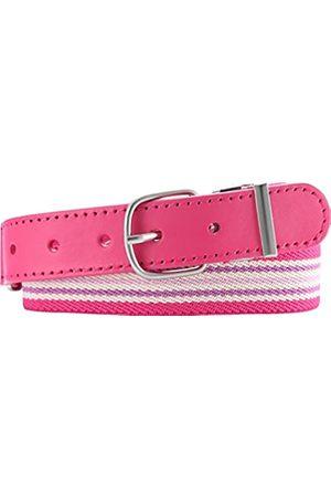 Playshoes Elastik-Gürtel Ringel Cinturón, (Pink/Gestreift)