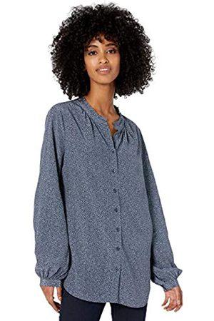 Goodthreads Viscose Sleeve-Interest Shirt Fashion-t-Shirts, Dusty Blue/Indigo Texture Print