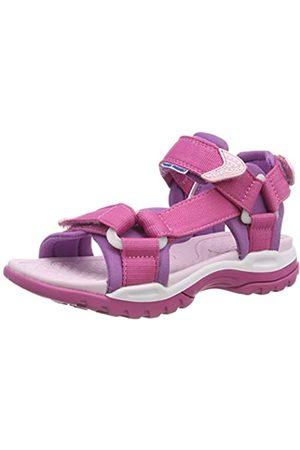 Geox J Borealis Girl A, Sandalias con Punta Abierta para Niñas, Pink (Fuchsia/Purple C8315)