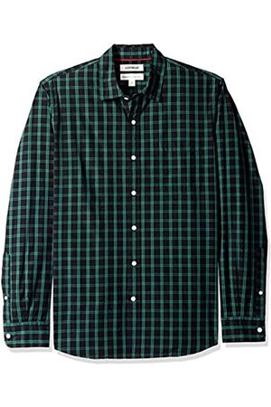 Goodthreads Standard-Fit Poplin Two-Color Check Shirt Button-Down-Shirts, Black/Green
