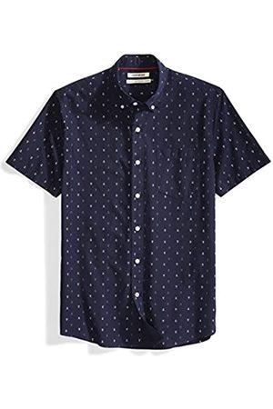 Goodthreads Standard-fit Short-Sleeve Anchor-Print Shirt Camisa Abotonada, (Navy)