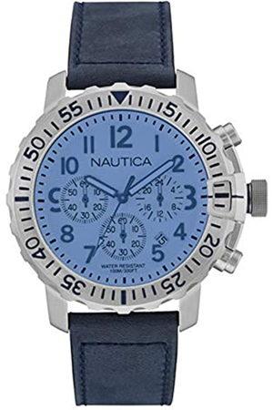 Nautica RelojAnalógicoparaHombredeCuarzoconCorreaenCueroNAI19534G
