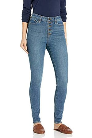 Goodthreads Exposed-Fly High-Rise Skinny Jeans, (Authentic Blue)