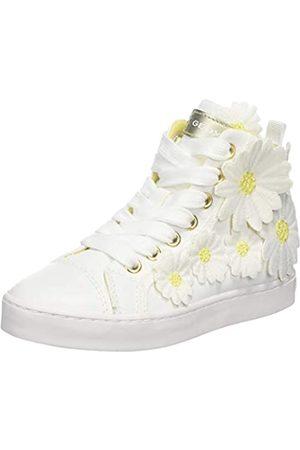 Geox Jr Ciak Girl L, Zapatillas Altas para Niñas, (White)