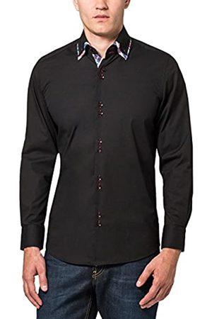 James Tyler Herren Freizeithemd mit Design Details, Slim Fit, bügelleicht, Gr. Kragenweite: 39 cm