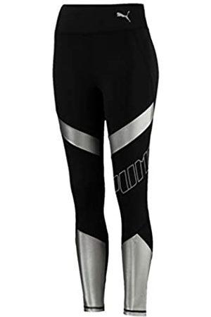 Puma Elite Speed Tight Mallas Deporte, Mujer, Black/Silver