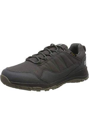 Jack Wolfskin Maze Texapore Low M Wasserdicht, Zapatos Rise Senderismo para Hombre, Dark Steel/Green 6057