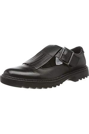 Clarks Asher Verve Y, Bailarinas para Niñas, Black Leather