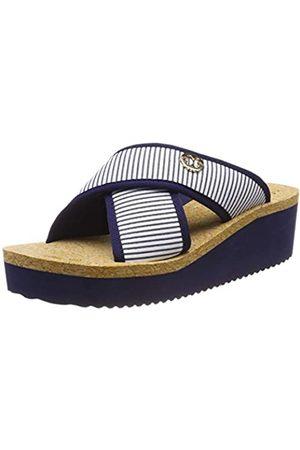 flip*flop Plateaucross Stripes, Sandalias con Plataforma para Mujer, (Deep Night 0320)