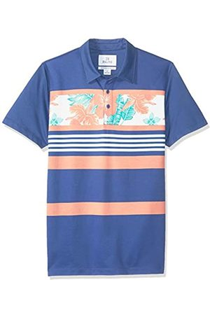 28 Palms Marca Amazon - - Polo de golf de piqué con estampado tropical, algodón de calidad, corte holgado