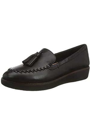FitFlop Petrina Loafer-Plain Leather, Mocasines para Mujer, (Black 001)