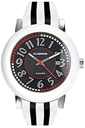 K&Bros RelojAnálogoclásicoparaMujerdeCuarzoconCorreaenCuero9135-1-435