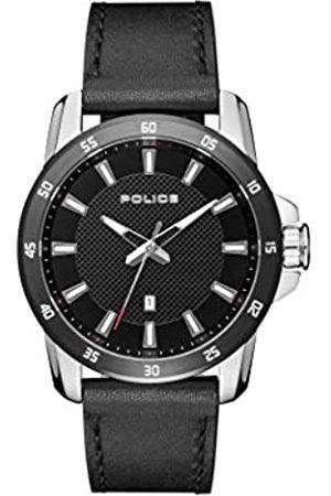 Police Reloj Analógico para Hombre de Cuarzo con Correa en Cuero PL.15526JSTB/02
